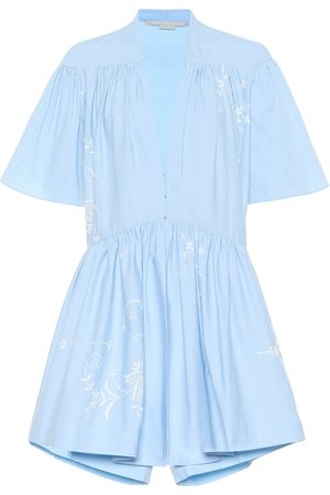 Stella McCartney Embroidered cotton playsuit