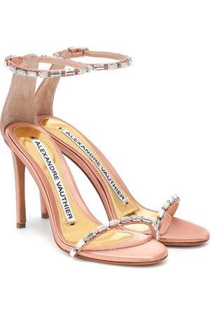ALEXANDRE VAUTHIER Carla embellished satin sandals