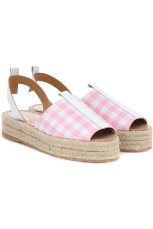 DODO BAR OR Gingham platform espadrilles