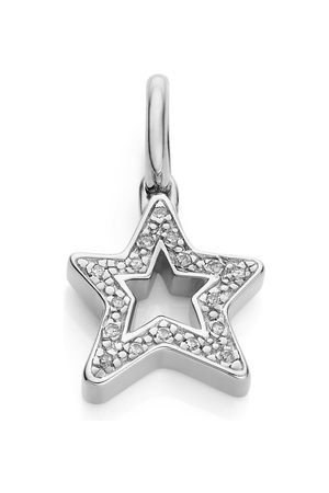 Monica Vinader Sterling Silver Alphabet Star Diamond Pendant Charm Diamond