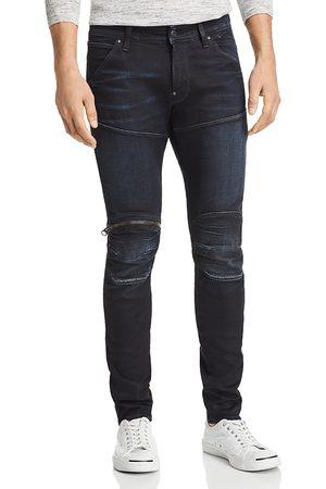 G-Star 5620 3D Knee Zip Skinny Fit Jeans in Dark Aged