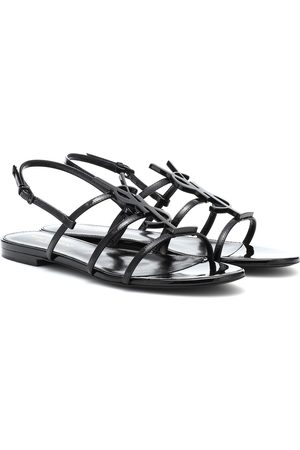 Saint Laurent Cassandra logo patent leather sandals