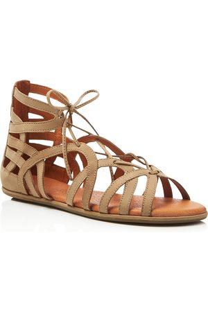 Kenneth Cole Gentle Souls Break My Heart Snake Embossed Lace Up Sandals