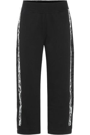 adidas Cropped cotton trackpants