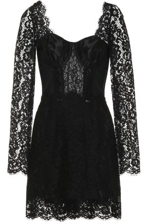 Dolce & Gabbana Cotton-blend lace minidress
