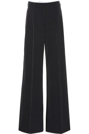 Stella McCartney Striped high-rise flared wool pants