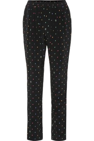 Stella McCartney Printed silk-crêpe straight pants