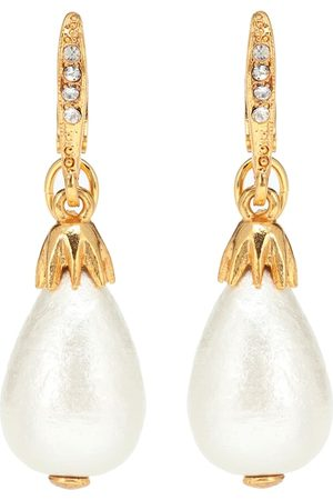 Oscar de la Renta Faux pearl earrings