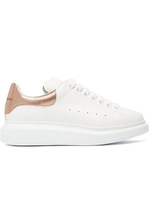 Alexander McQueen Raised Sole Low Top Leather Trainers - Womens - Multi