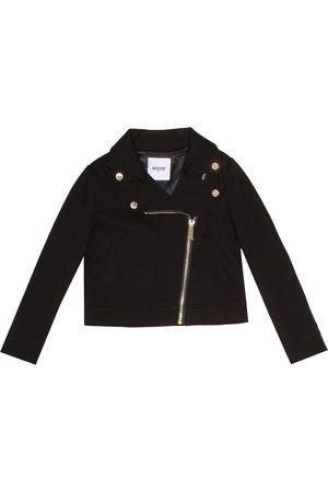 Moschino Jersey biker jacket