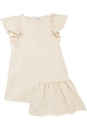 Unlabel Cotton Sweatshirt Dress W/ Ruffle