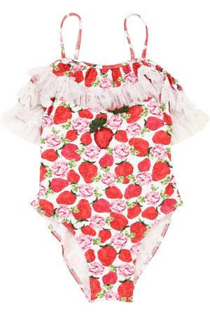 SELINI Strawberry Print Lycra Onepiece Swimsuit