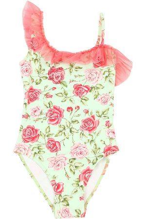 SELINI Rose Print Lycra One Piece Swimsuit