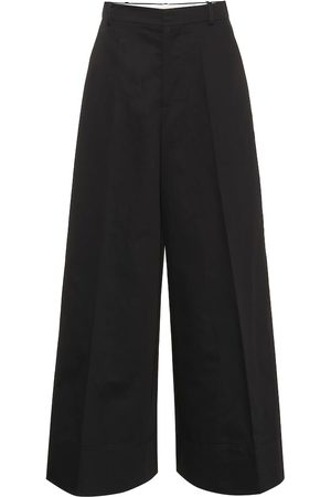Marni Wide-leg cotton and linen pants