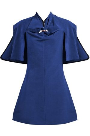 Ellery Holly Of Hollies Cut Out Mini Dress - Womens - Navy