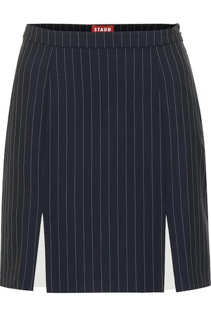 Staud Liv striped crêpe skirt