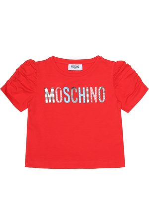 Moschino Printed stretch cotton T-shirt