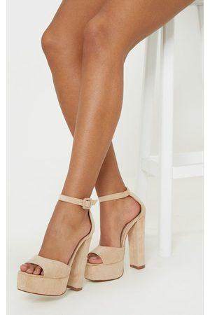 PRETTYLITTLETHING Women Sandals - Nude Platform High Sandal