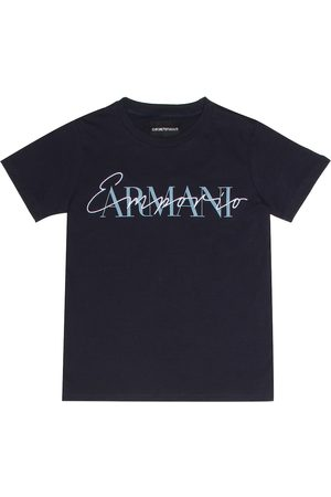 Armani Embroidered cotton T-shirt