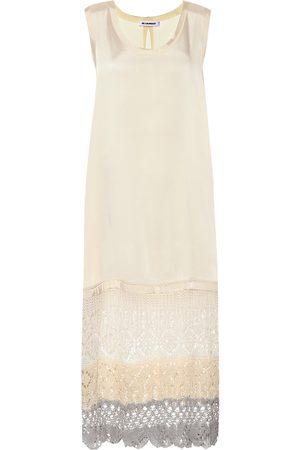 Jil Sander Crochet-trimmed midi dress