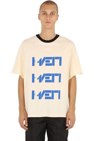 HAERVAERK Women T-shirts - Triple Print Cotton Jersey T-shirt
