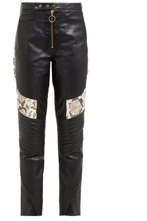 MARQUES'ALMEIDA Panelled Leather Biker Trousers - Womens - Multi