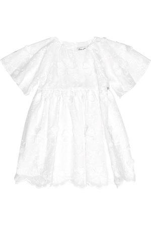 Tartine Et Chocolat Embroidered cotton-blend dress