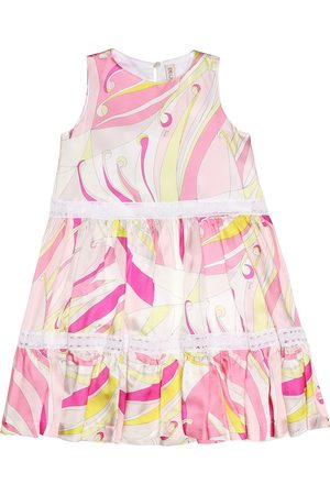 Emilio Pucci Kids Printed silk-blend dress