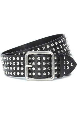 Alexander McQueen Embellished leather belt