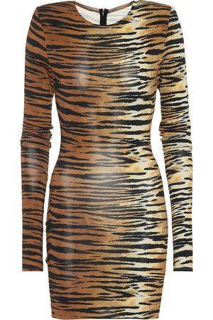ALEXANDRE VAUTHIER Tiger-print minidress