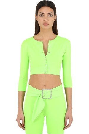 AYA MUSE Women Cardigans - Cropped Nylon Micro Cardigan