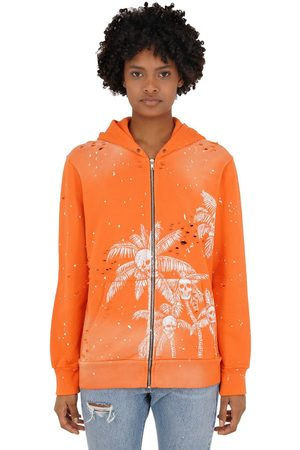 DOMREBEL Palm Skull Zip-up Sweatshirt Hoodie