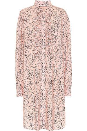 Plan C Printed poplin shirt dress