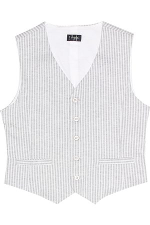Il gufo Striped cotton vest