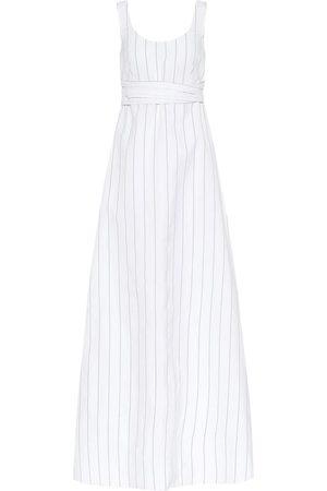Plan C Striped poplin maxi dress