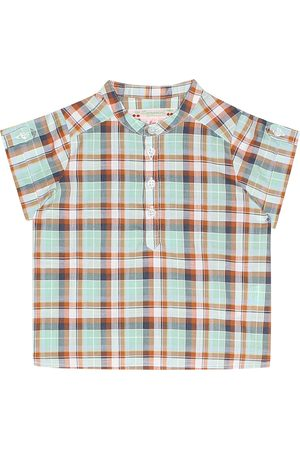 BONPOINT Emilio checked cotton top