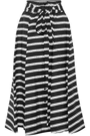 Lisa Marie Fernandez Beach striped linen-blend midi skirt