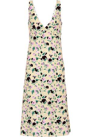 Plan C Floral-printed crêpe midi dress