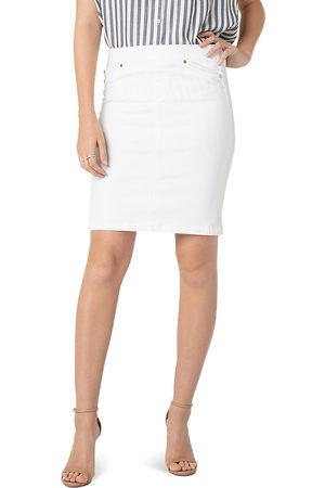 Liverpool Los Angeles Liverpool Denim Pull-On Skirt in Bright
