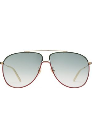 Gucci Aviator Metal Sunglasses - Mens