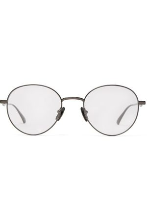 Gucci Round Frame Metal Glasses - Mens - Grey