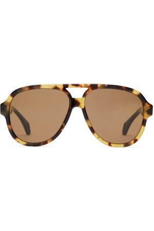 Gucci Aviator Acetate Glasses - Mens - Tortoiseshell