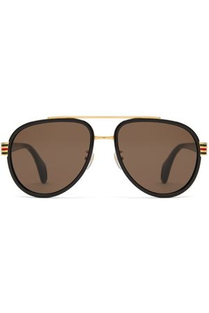 Gucci Aviator Acetate Sunglasses - Mens