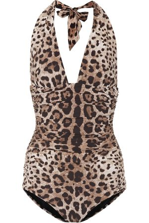 Dolce & Gabbana Leopard-printed one-piece swimsuit