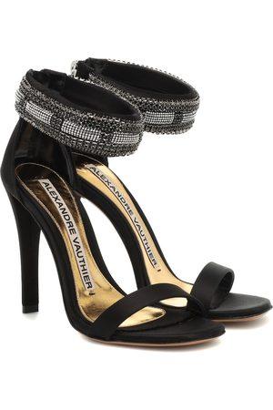 ALEXANDRE VAUTHIER Nina embellished satin sandals