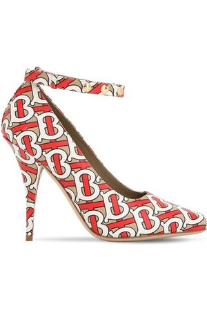 Burberry 105mm Wiltkin Printed Leather Pumps