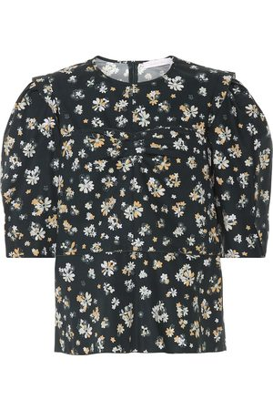 See by Chloé Floral cotton blouse