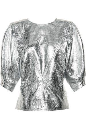 Isabel Marant Metallic leather top
