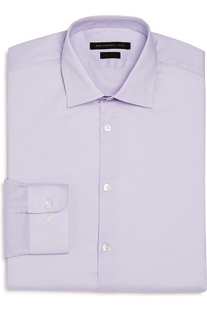 John Varvatos Solid Regular Fit Dress Shirt