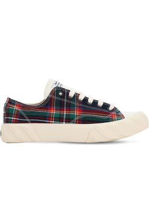 AGE - ACROSS TO GENUINE ERA Checked Cotton Canvas Sneakers